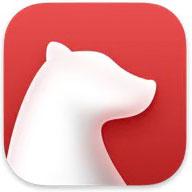 ノートアプリ、Bearのロゴマーク画像。
